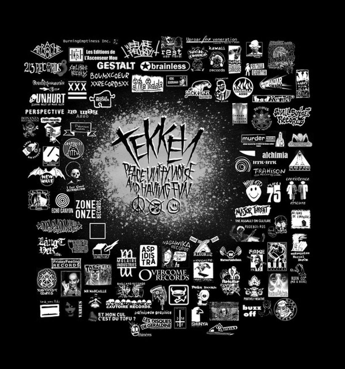 tekken - peace, unity, noise and having fun compilation LP + CD